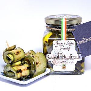 Involtini Di Zucchine Grigliate Con Carciofi